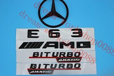Gloss Black E63s Letters Trunk Emblem Badge Emblems for Mercedes Benz E63 AMG S