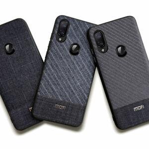 Custodia-semi-rigida-cover-resistente-MOFI-tessuto-per-Xiaomi-Redmi-Note-7-e-Pro