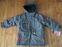 Marker Boys Size 4 Gray Plaid duke Waterproof Winter Snowboard/ski Jacket