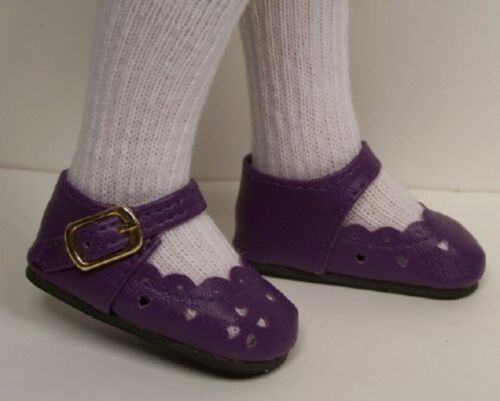 """Debs PURPLE Heart CutOut Doll Shoes For 16/"""" Kish Spring Summer Winter Fall"""