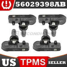 4x Genuine Tire Pressure Oem 56029398ab Tpms Sensor For Chrysler Dodge Ram Fits More Than One Vehicle