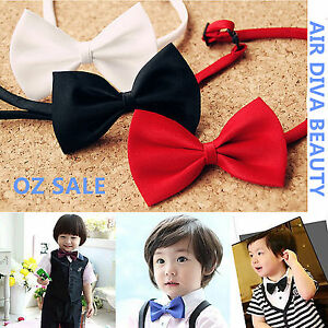 1P-Boys-Kids-Children-Party-School-Pre-tied-Wedding-dance-bow-tie-Necktie-bowtie