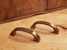 Pair of Solid Brass Pulls Knobbs Handles McCobb Mid Century Modern