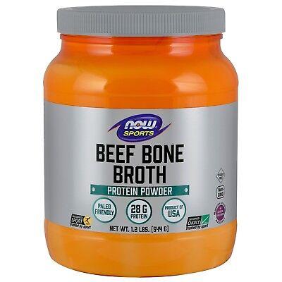 NOW Sports Bone Broth, Beef, 1.2 lbs Powder
