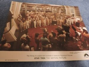 Star-Trek-The-Motion-Picture-034-On-Set-Cast-Picture-034-1978-Movie-Promo-Print