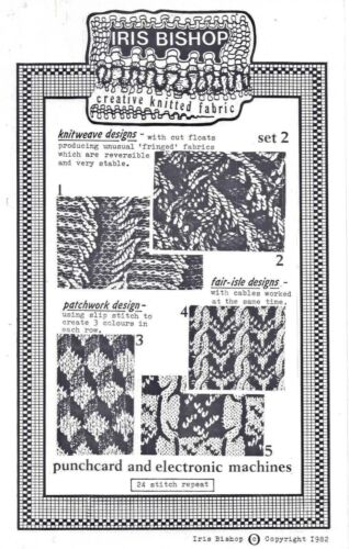 Set #2-  Designs for Punchcard /& Elec Mach. KNITWEAVE DESIGNS Iris Bishop