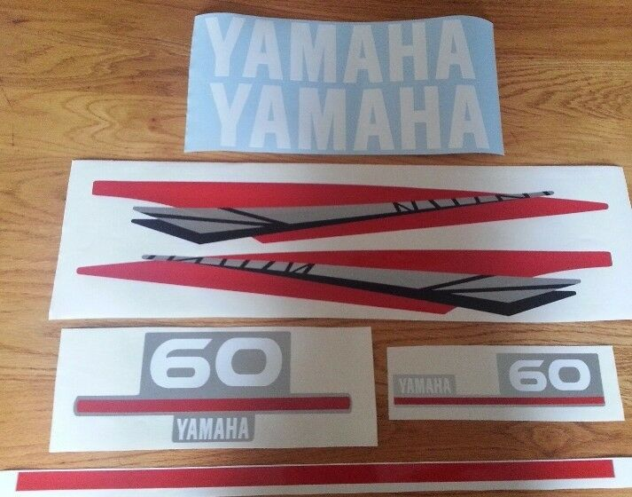 Yamaha two stroke outboard motor decals stickers graphics sets