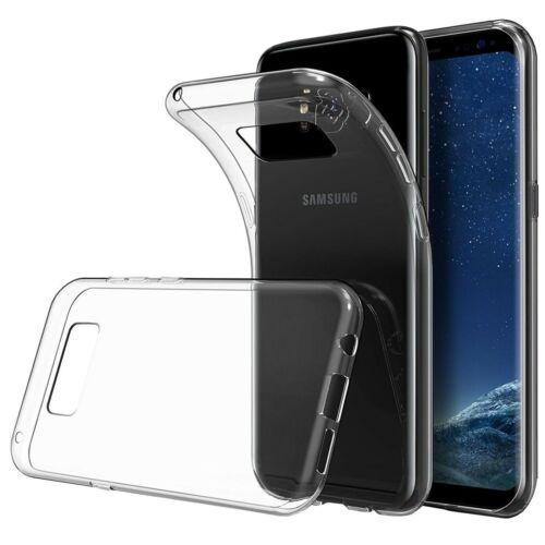 Samsung Galaxy S6 S8 Funda de silicona transparente TPU Gel cubierta protectora clara