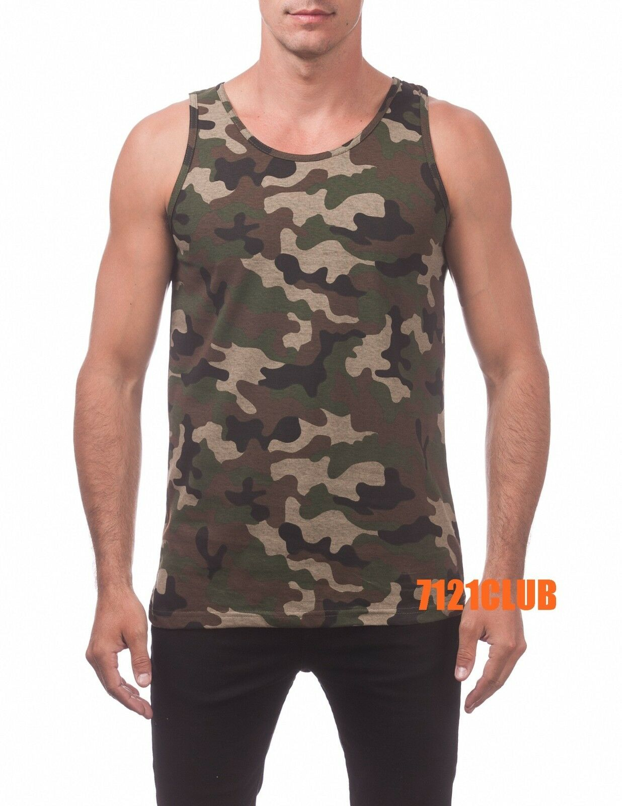 Men/'s S-Med Mossy Oak Camo Camouflage Hunting Sleeveless Muscle Tank Top Shirt