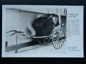 London-Transport-c1830-CABRIOLET-A-Single-Horsed-Carriage-c1950s-RP-Postcard
