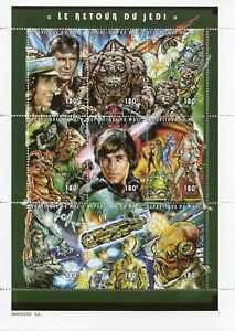 Mali-1997-MNH-Star-Wars-Return-of-Jedi-Luke-Skywalker-Han-Solo-9v-M-S-Stamps