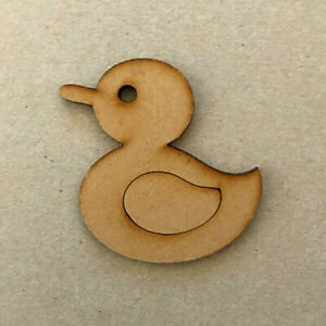 Embellishments x 10 3mm MDF Wooden Cutout Duck Craft Shapes