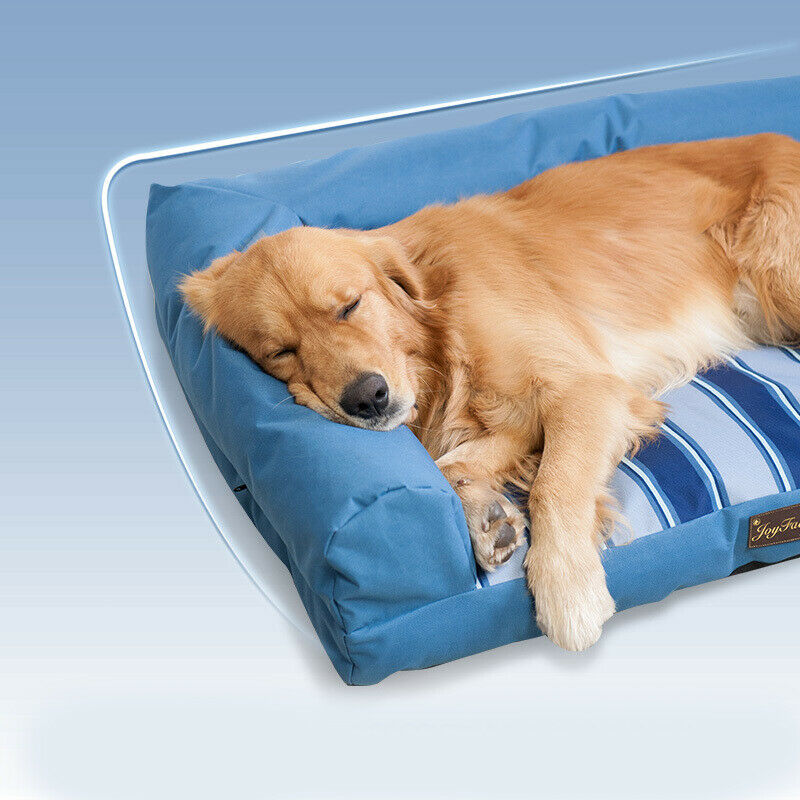 D92 Washable bluee Cloth Soft Mat Pet Dog Cat Bed Cage Blanket Rug 907022CM