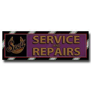 Details about SCOTT MOTORCYCLES SERVICE & REPAIRS METAL SIGN 12