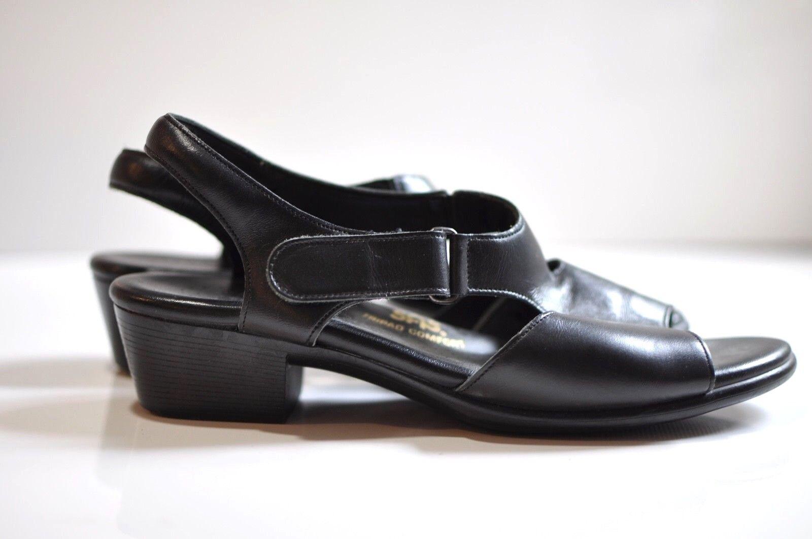 SAS 9.5 Tripad Comfort black leather strap sandals women's 9.5 SAS N made in USA 0130fa
