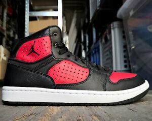 Nike-Jordan-Scarpe-Uomo-Scarpe-da-Basket-Ginnastica-Nero-Rosso-Pelle-44-43