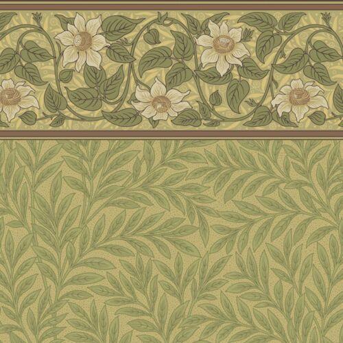 Talbert Clematis Frieze with Arbor Wall Victorian B.J Dollhouse Wallpaper