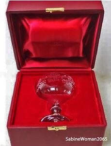 NEW in RED BOX STEUBEN Glass ENGRAVED KIDDUSH CUP Judaica Seder Menorah art joy
