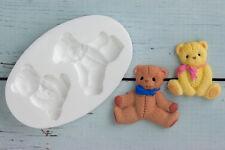 Silicone Mould,Teddy Bear, Teddies, Baby Shower, Ellam Sugarcraft M037