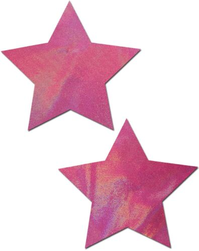 Buy 2 Get 1 Free PASTEASE brand Pasties Holographic Star Nipple Pasties