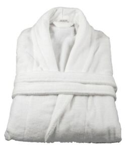 84ff7b8111 XXL White Bath Robe 100% Cotton Terry Towelling Dressing Gown with ...