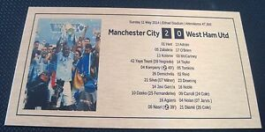 2014 Manchester City EPL Champions Gold or silver Plaque