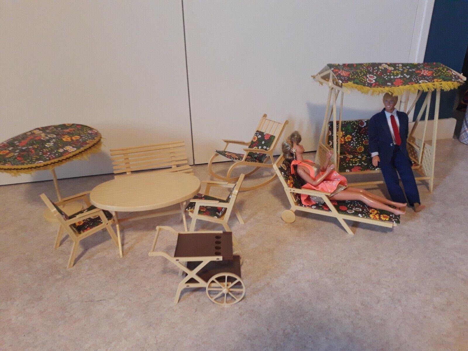 Mobilier Barbie Vintage   Salon de Jardin années 80
