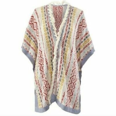 Scarves & Wraps Creative Cabi New Nwt Size Xs/s Siesta Poncho Wrap Cape #5001 Spring Love Carol Suitable For Men And Women Of All Ages In All Seasons