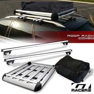 50 Quot Silver Oval Adjustable Roof Rail Rack Cross Bar Cargo