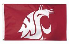 Washington State Univeristy Cougars Flag  3' x 5' Logo Flag Football NCAA WSU