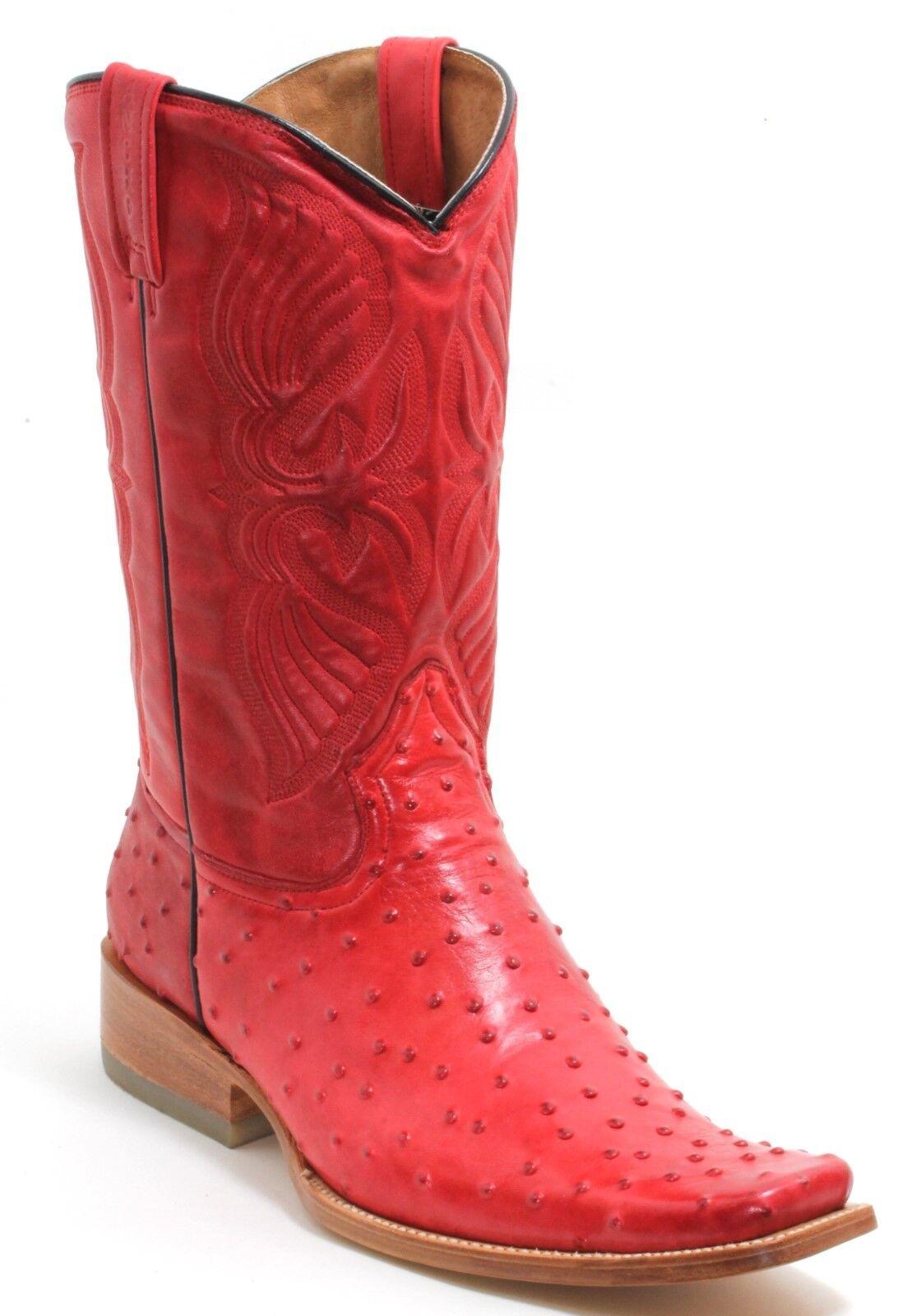 10 bottes De Cowboy Western reitbottes bottes catalan style RANCHO autruche Roper 44