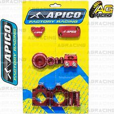 Apico Bling Pack Red Blocks Caps Plugs Nuts Clamp Covers For Honda CRF 250R 2011