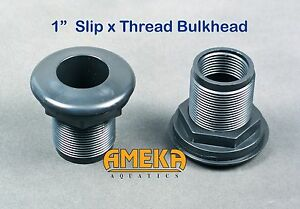 1-034-Bulkhead-Fitting-Slip-x-Thread-Aquarium-Pond-High-Quality-by-CPR-Aquatic
