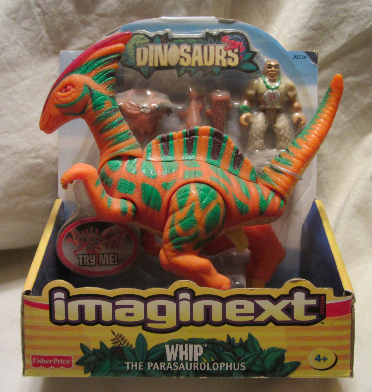 Imaginext Dinosaurs WHIP THE PARASAUROLOPHUS Fisher Price - NEW