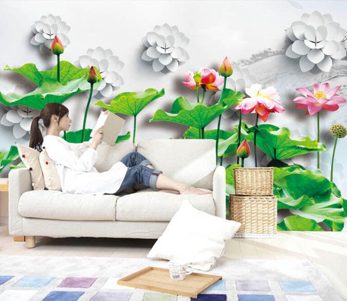 3D Lotusteich 863 Tapete Wandgemälde Tapete Tapeten Bild Bild Bild Familie DE Summer  | Deutschland Shops  | Modern Und Elegant  | Hervorragende Eigenschaften  d5f7ce