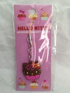 Hello-Kitty-Cupcake-Cellphone-Charm-Bag-Charm-Rare-Kawaii-Sanrio-Trinkets-Choco