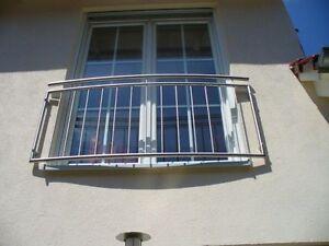 mod 181 gebogen franz sischer balkon gitter fenstergitter feuerverzinkt ebay. Black Bedroom Furniture Sets. Home Design Ideas