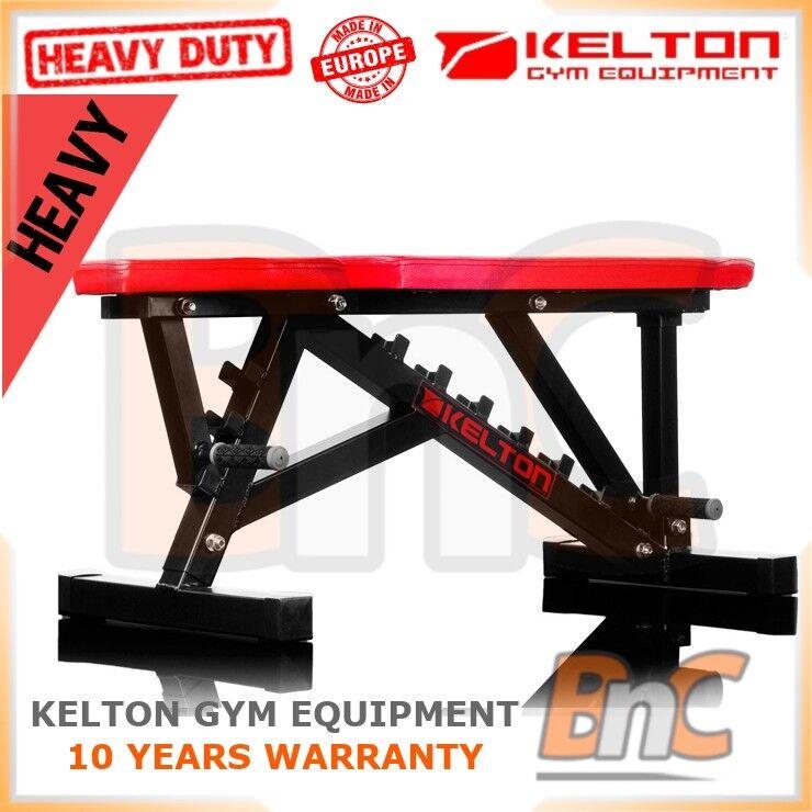 KELTON HD HL10 regolabili della panca per il sollevamento pesi PENDENZA DECLINO heavy duty palestra
