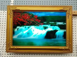 Waterfall Moving Picture with Light & Sound Wall Art – Electric - PICK-UP ONLY