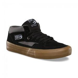 0666aec650 Vans Half Cab Pro Black Pewter Gum UltraCush Suede Skate Shoes Men s ...