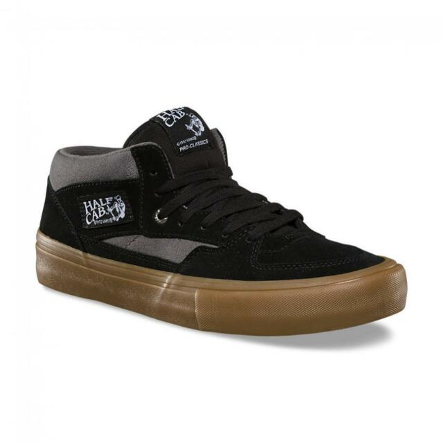 16bf4bdf804dd8 Vans Half Cab Pro Black Pewter Gum UltraCush Suede Skate Shoes Men s Size 7
