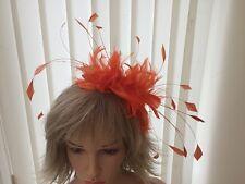 ARANCIONE PIUMA fascinator-hats, Matrimonio, ASCOT, accessori