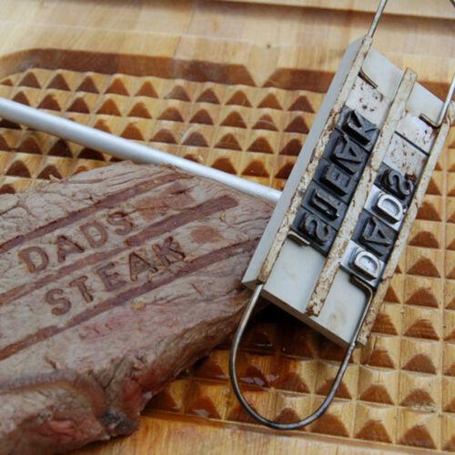 Steak Fleisch Branding Eisen Unterschrift Name Markierung Stempel Buchstaben neu