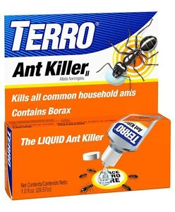TERRO 1 oz Liquid Ant Killer ll T100 Indoor/Outdoor Bait Pest Control Borax