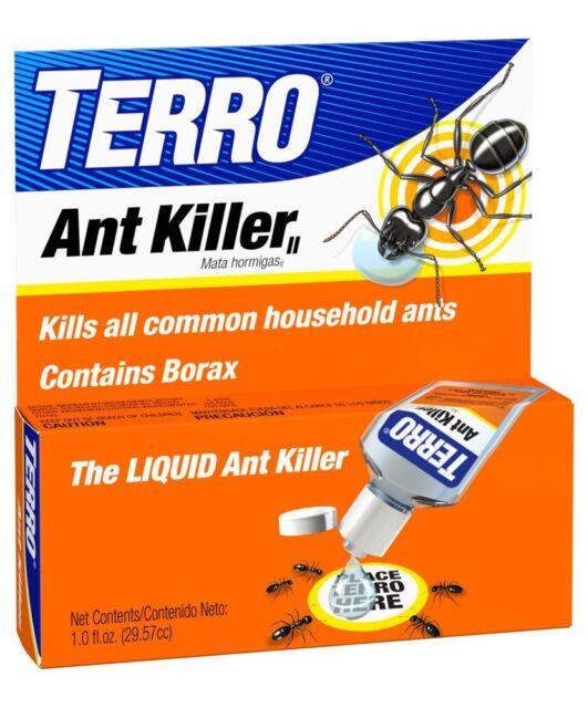 TERRO 1 oz Liquid Ant Killer ll T100 Indoor/Outdoor Bait Pest Control Borax