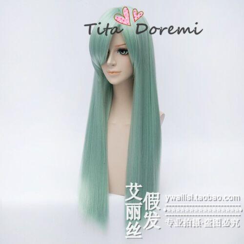 Halloween Wig Cosplay The Seven Deadly Sins Elizabeth green fashion Hair 80cm