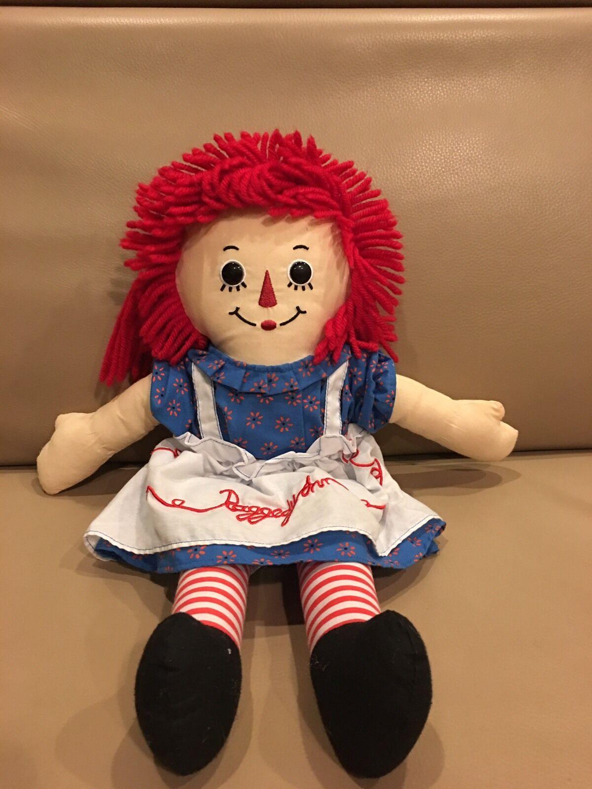 "Hasbro\Russ-Berrie 17/"" Raggedy Andy Cloth Doll"