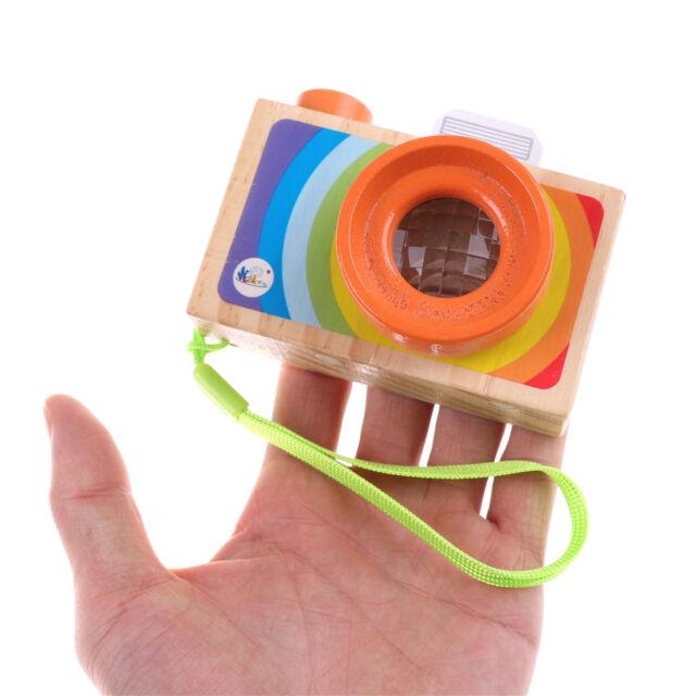 Kids Wooden Toys Camera Kaleidoscope Educational Magic Kaleidoscope Children HF