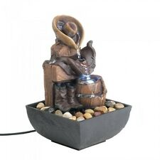 Wild Western Cowboy Tabletop Water Fountain - New
