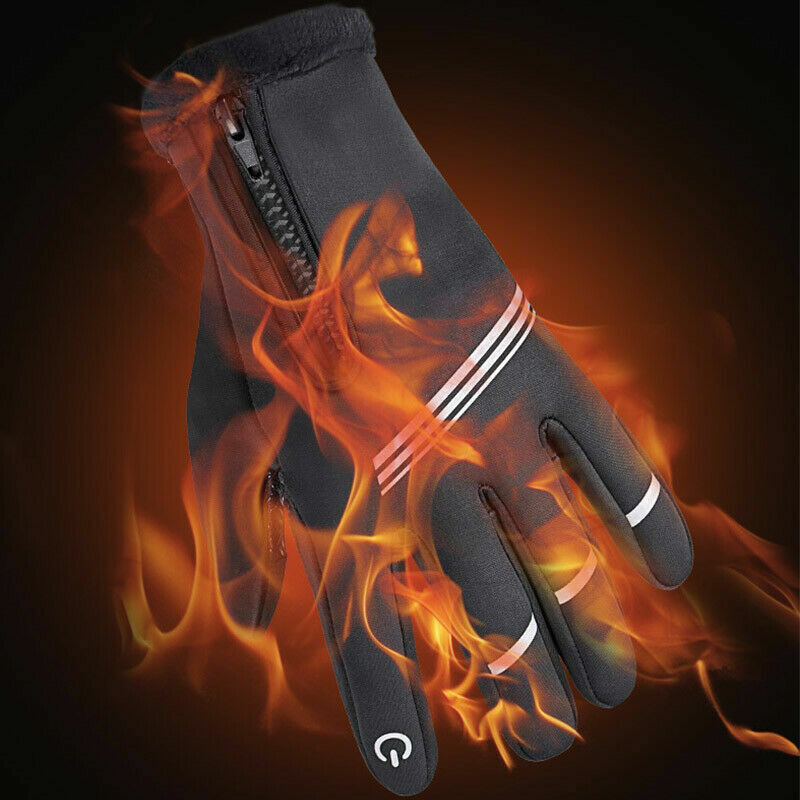 1 pair Gloves Waterproof Cycling Riding Gloves Bicycle Motorcycle Screen Gloves